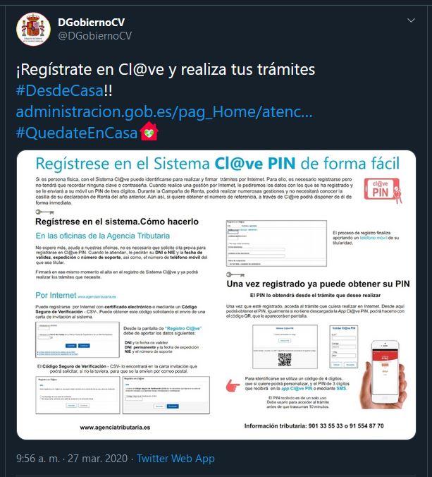 Registrarse en Cl@ve